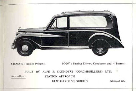 Austin Princess Scating Driver alpe & saunders brochure Surrey