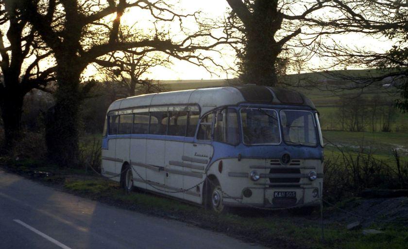 Bedford SB chassied coach KAN 505 Yeates pegasus body