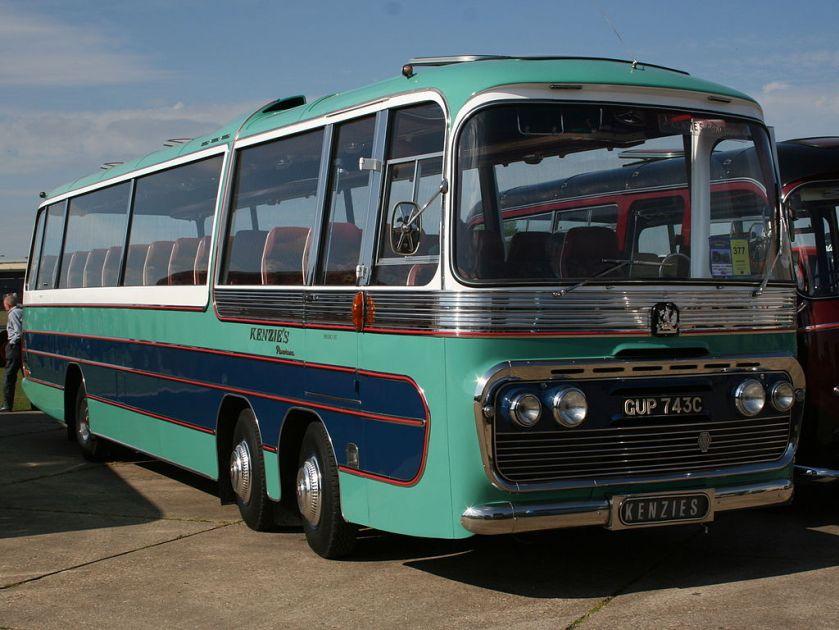 Bedford twin steer coach, GUP743C