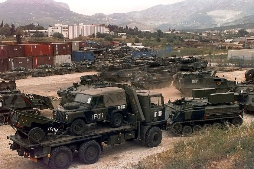 British Army vehicles at Croatia