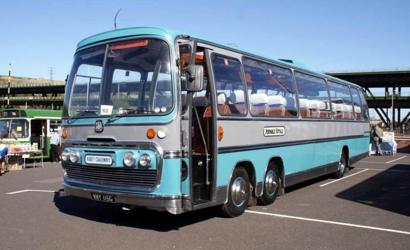Bussen Bedford VAL70 in 1969 Plaxton Panorama Elite bodywork is fitted