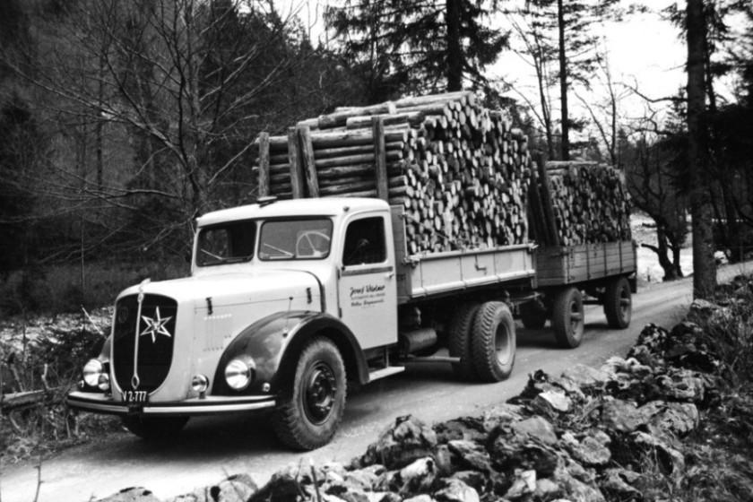 ÖAF 6D90 () mit 130PS Henschel-Motor, Transporte Wüstner Mellau