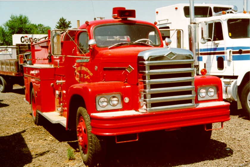 Diamond T P400 Series Fire Truck at a lot in Yakima, WA.