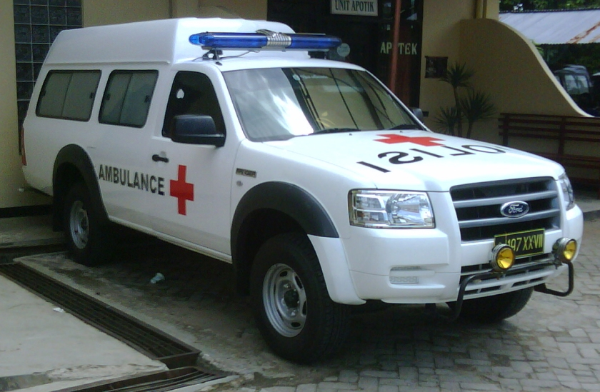 Ford Ranger Ambulance Indonesia.