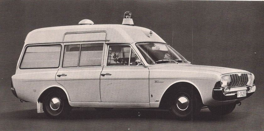 Ford Taunus 17m  20m, P5, Ambulance