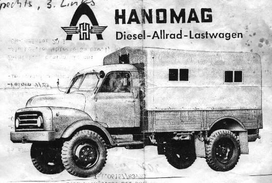 Hanomag A-L28 four wheel drive truck