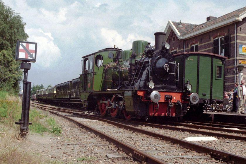 Hanomag stoomlocomotief. Loc 4 van de Museum Buurtspoorweg
