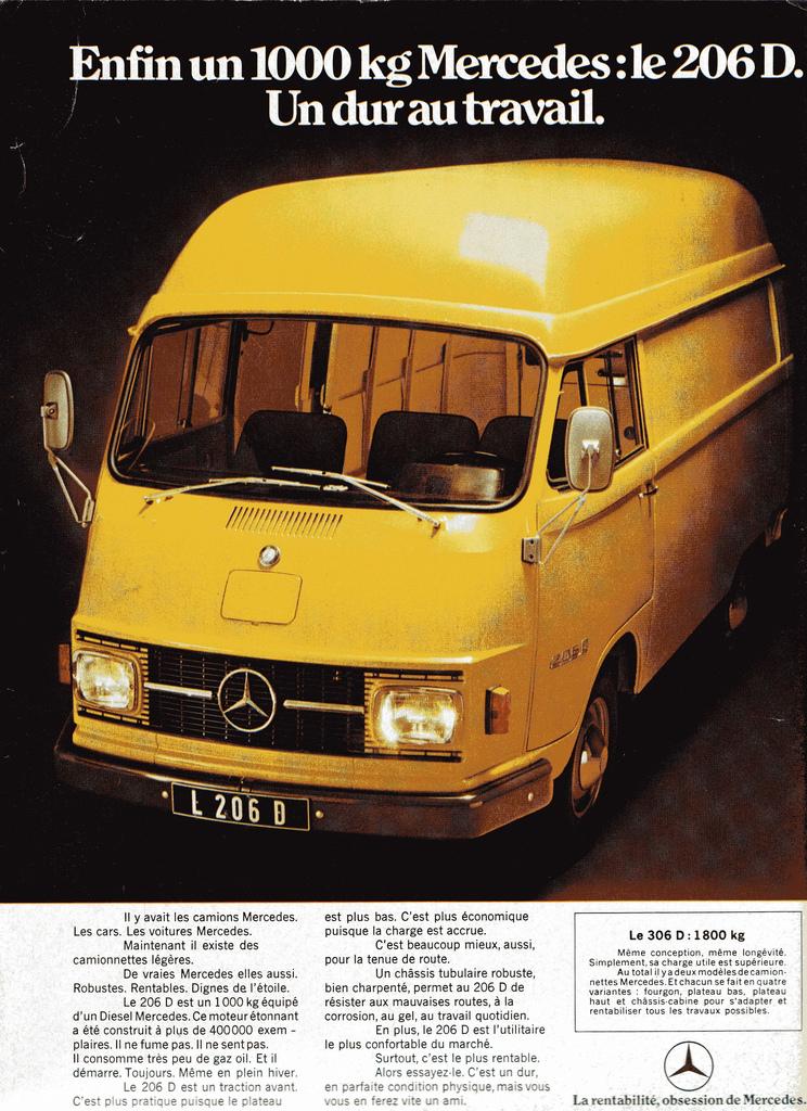 Mercedes 206 D Reclame