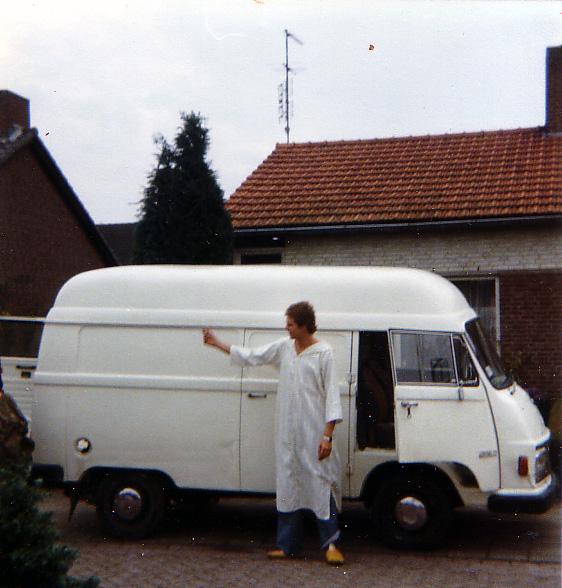 Mercedes 206 D terug in Oostrum na Marokko 1988