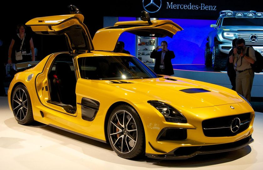 Mercedes Benz AMG SLS Black Mercedes-Benz SLS AMG Black Series (supercar)