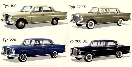 Mercedes Benz Fintail models