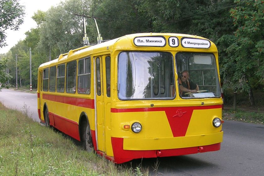 Museum ZiU-5 trolleybus in Nizhny Novgorod, Russia.