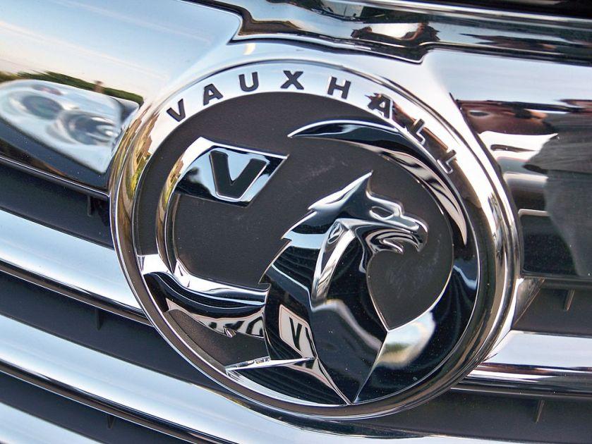 New Vauxhall Motors badge on a new Vuaxhall Insignia. 2nd June 2009.