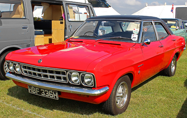 Vauxhall Ventora red