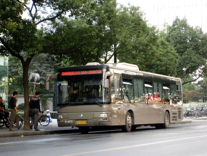 Yutong bus in Hangzhou, China