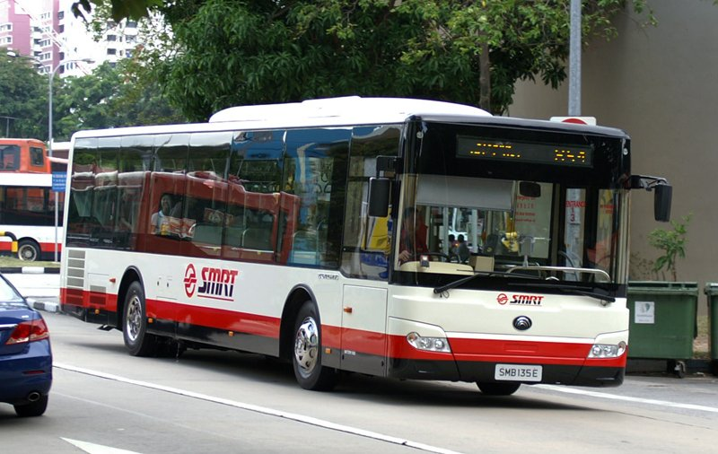 Yutong bus in Singapore SMB135E