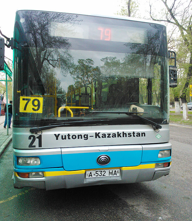 Yutong city bus in Almaty, Kazakhstan