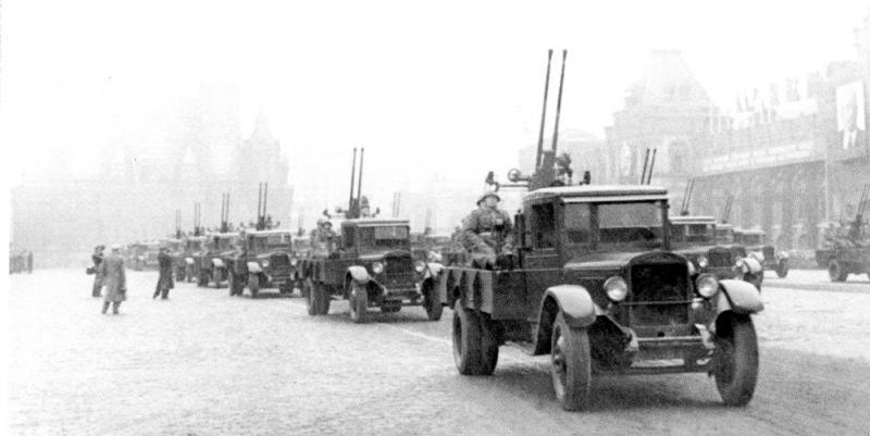 ZIS 94-KM dual 25-mm automatic cannons on ZIS-12 trucks