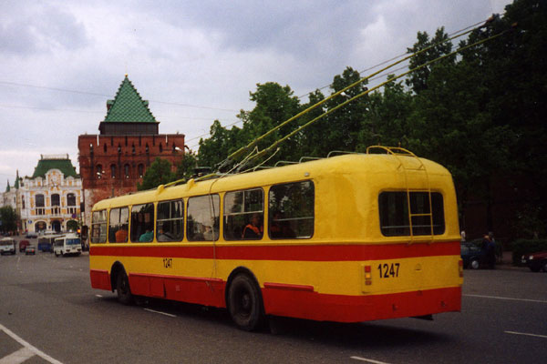 ZiU-5 trolleybus in Nizhny Novgorod, Russia.