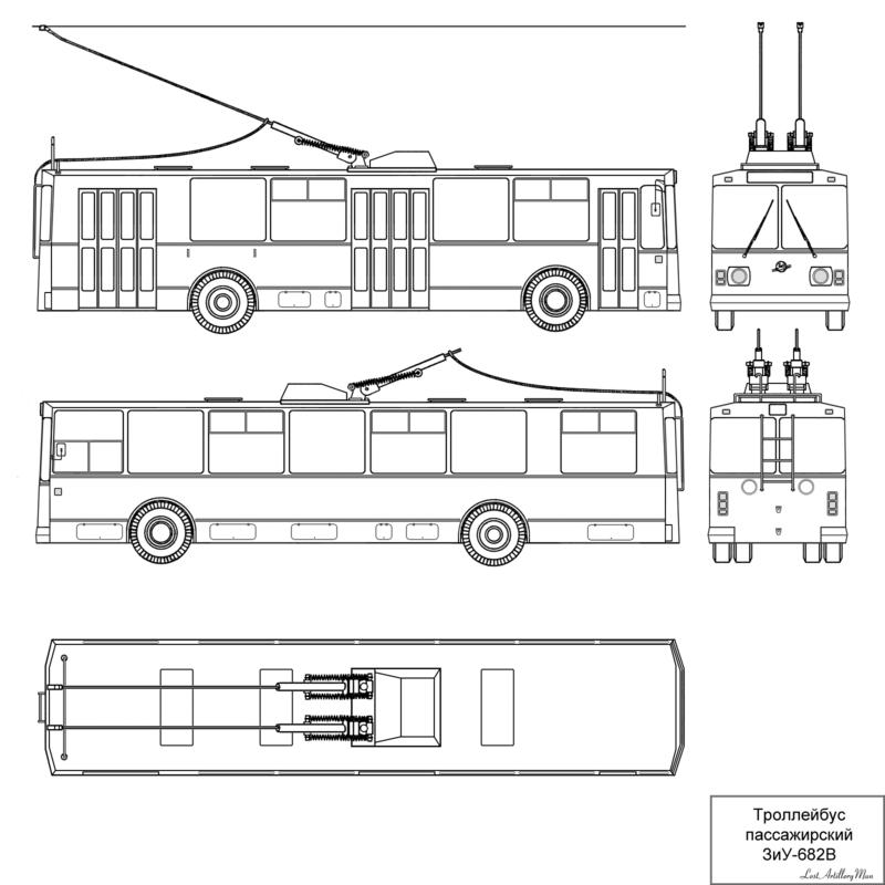ZiU-9 drawing