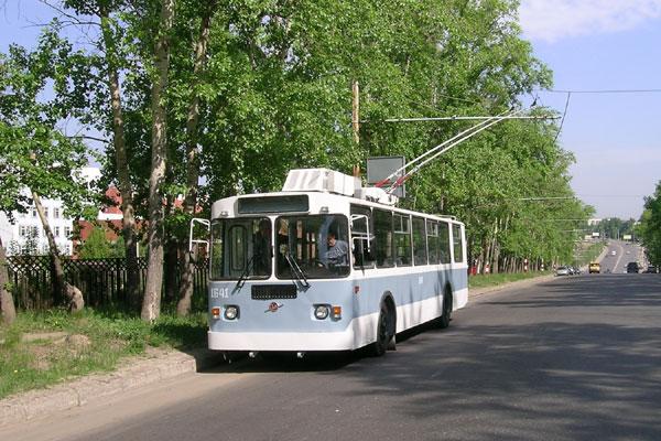 ZiU-9G trolleybus in Nizhny Novgorod, Russia a