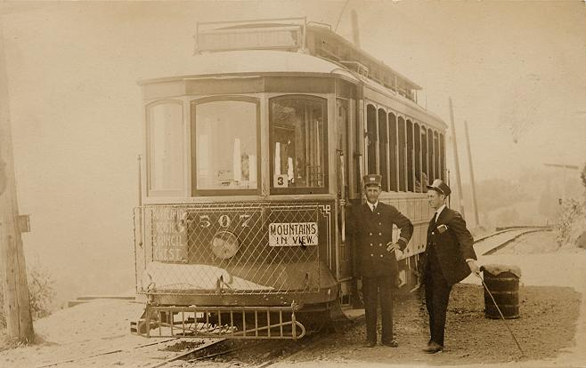 1904 Council_Crest_streetcar_507,_Portland,_Oregon_-_1910