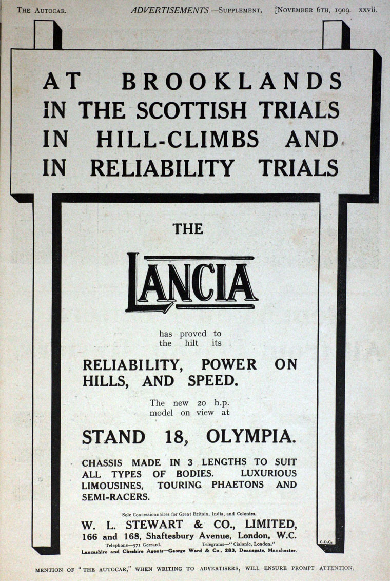 1909 Lancia ad