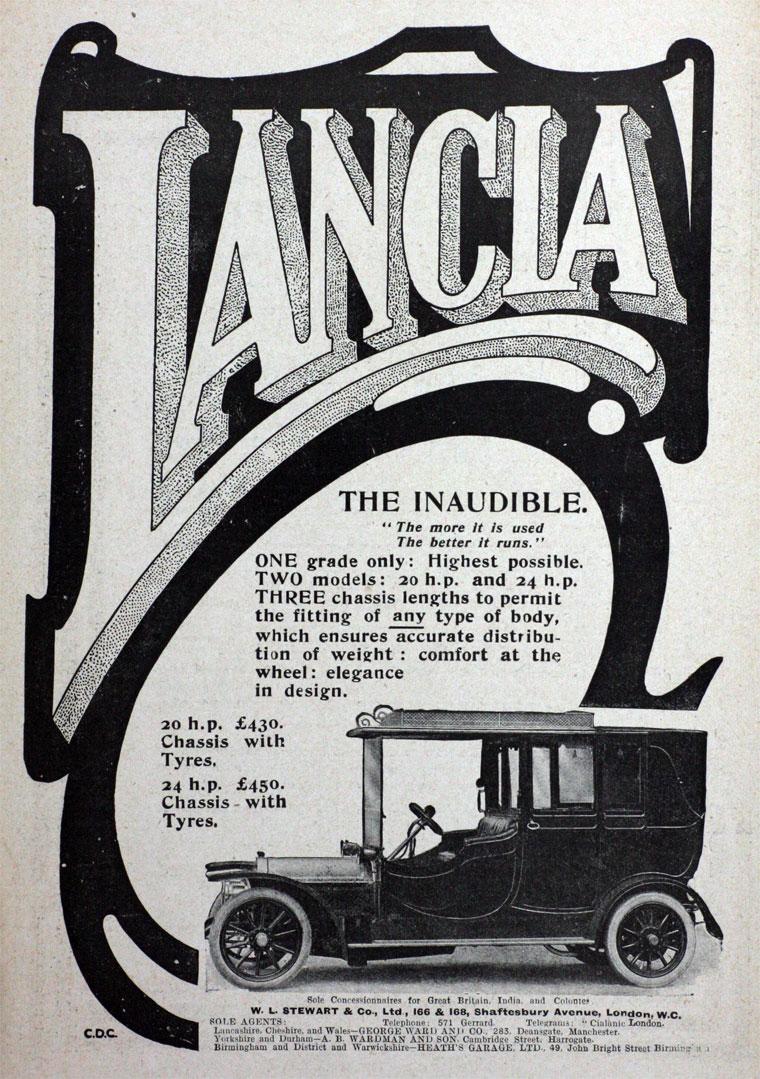 1910 Lancia ad
