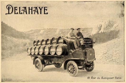 1914 Delahaye Trucks postcard.