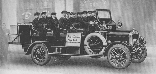1914 Guy's 14 seater bus designed for use in the highlands
