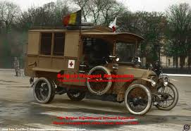 1915 Belgian Peugeot Ambulance in the Paris Parade of April 1915