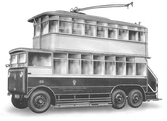 1925 Guy first six wheeled pneumatic Trolley Bus