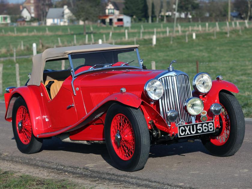 1927 ac six 1680 competition red retro side view cars grass