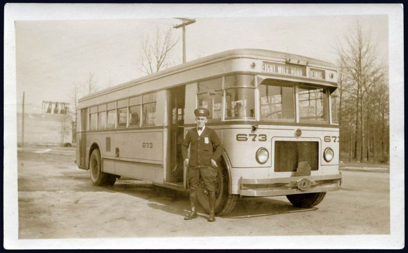 1930 ACF Bus Eight Mile Road & Livernois Detroit