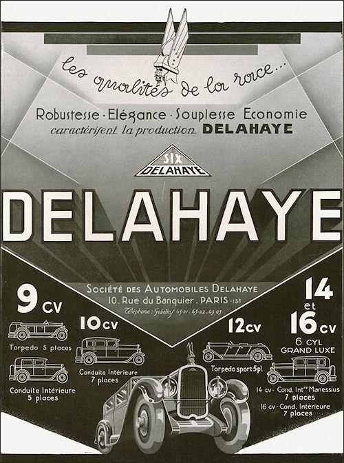 1930 Delahaye ad