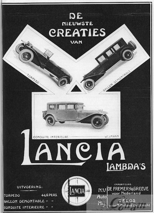 1930 lancia fremery-greeve