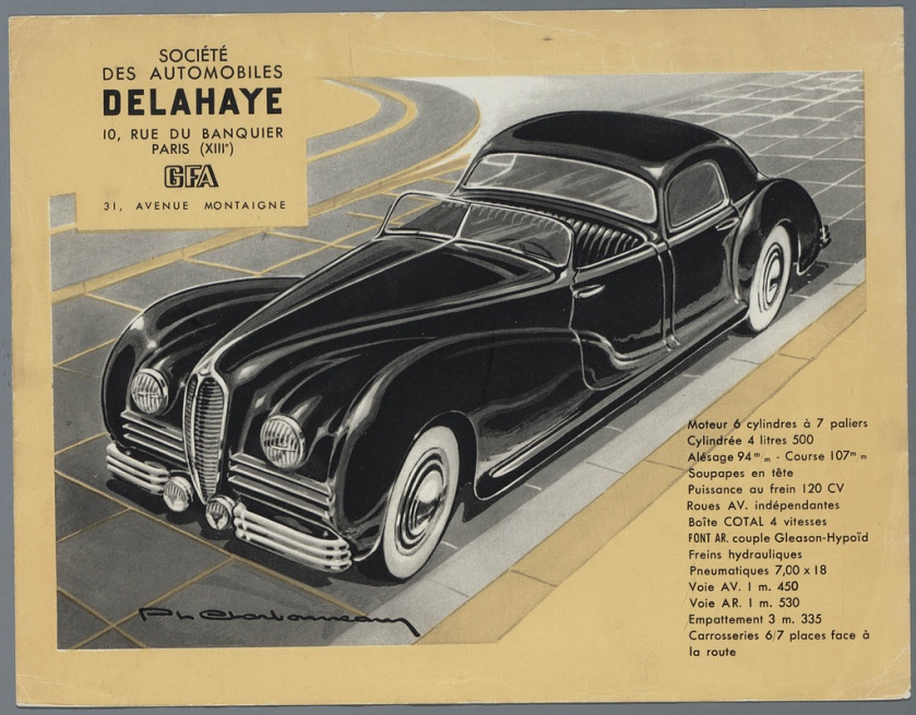 1931 Delahaye Type 180 Brochure