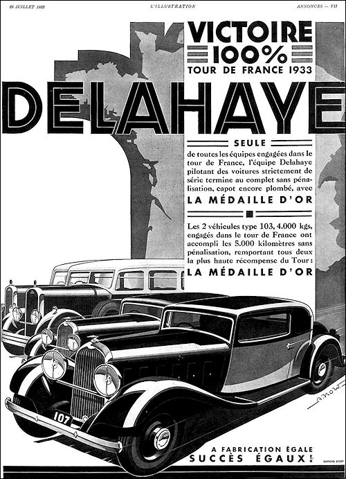 1933 Delahaye Ad a