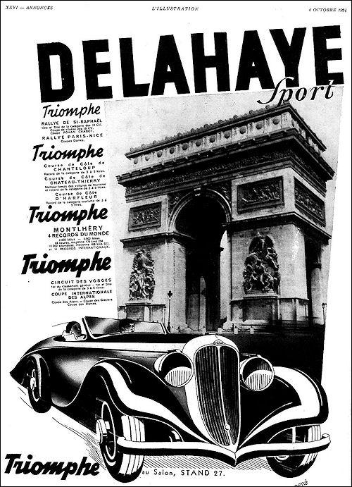 1934 Delahaye  Sport October