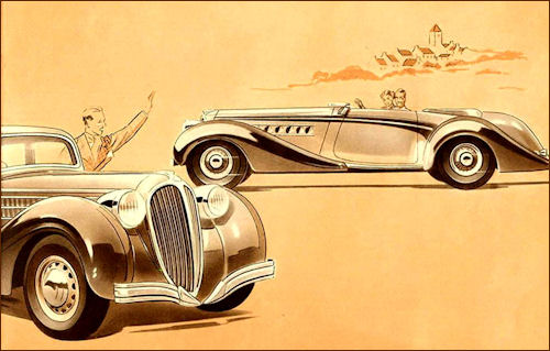1939 Delahaye 135 M reklame