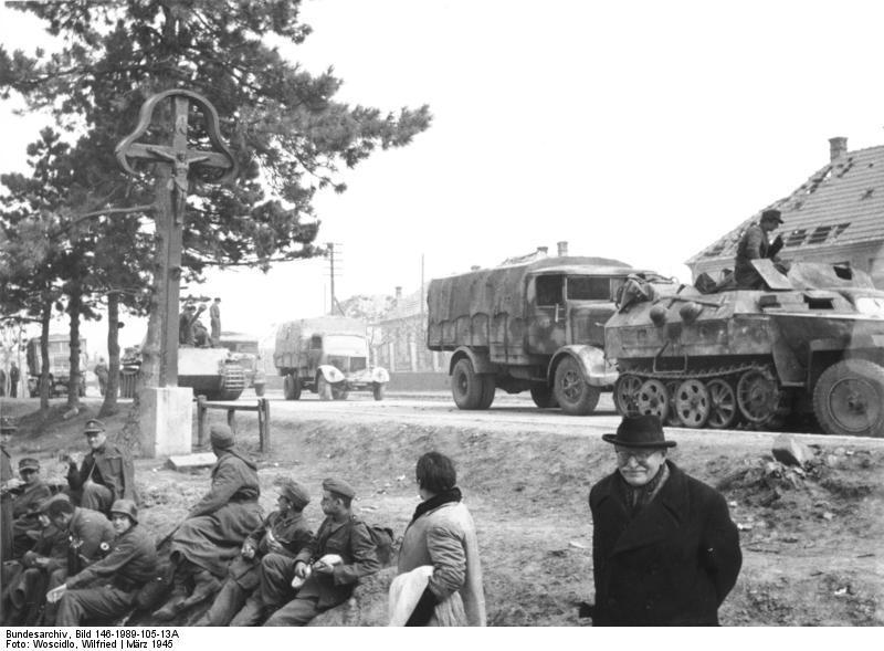 Ungarn, deutscher Rückzug