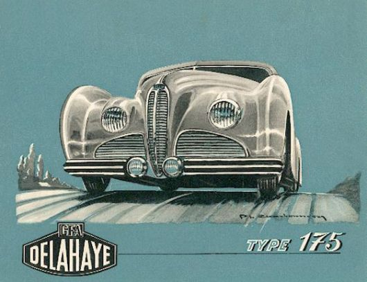 1947 Delahaye Type 175 catalog cover.