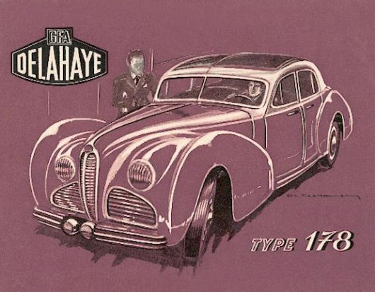 1947 Delahaye Type 178 catalog cover.