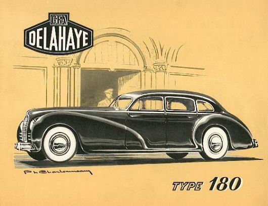 1947 Delahaye Type 180 catalog cover.