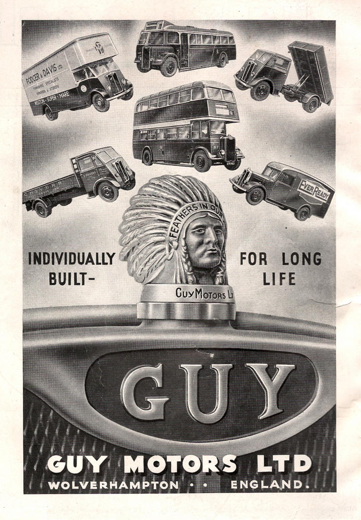 1947 Guy Motors of Wolverhampton, Individually built bus advert