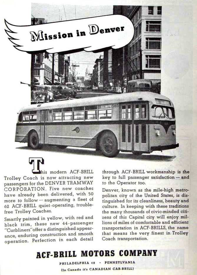 1948 ACF Brill ad