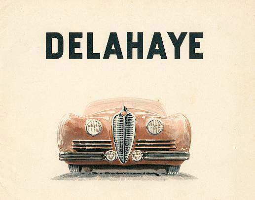 1948 Delahaye 8-page catalog cover. (for models 135-M, 148-L, 135 MS, 175, 178 and 180).