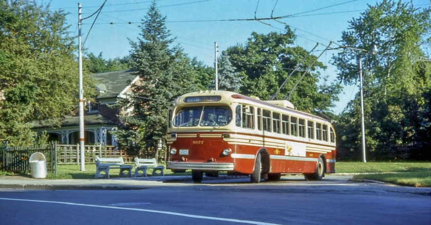 Toronto Brill trolleybus in 1968