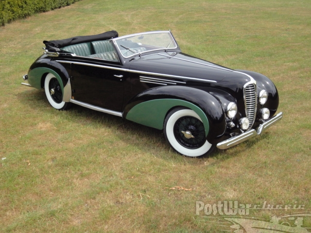1950 Delahaye 135 MS, 3 carburettors Convertible by Chapron