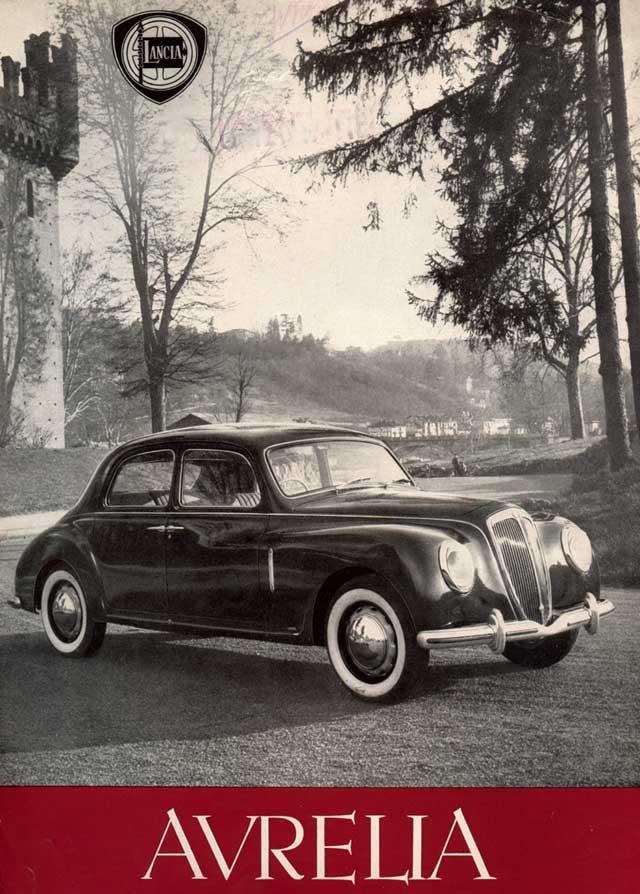 1950 lancia aurelia-bw
